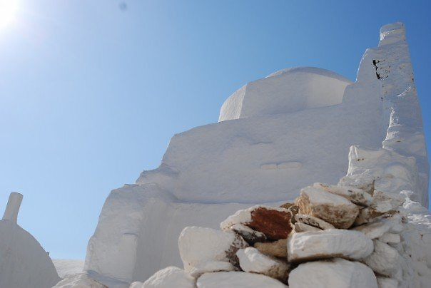 White Church of Mykonos by Galen  Stone