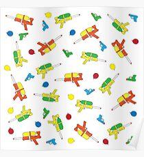 Waterguns & Water Balloons Pattern Poster