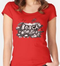 Beach! Women's Fitted Scoop T-Shirt