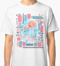 Flamingo Reflection - Watercolour Painting/Mixedmedia Classic T-Shirt