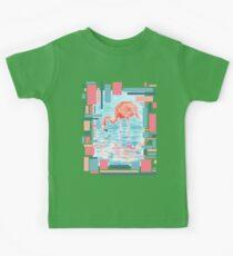 Flamingo Reflection - Watercolour Painting/Mixedmedia Kids Tee