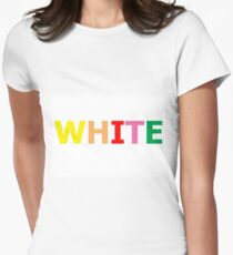White Womens Fitted T-Shirt