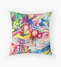 Nice Clowns You Got There - Watercolor Throw Pillow