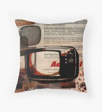 cool geeky tech Retro Vintage TV television Nostalgia Throw Pillow