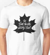 The True North, Maple Leaf in Black Unisex T-Shirt