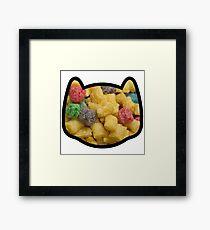 Frank - The Cereal Kitten Framed Print