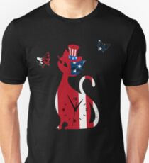 Independence Day T Shirt For 4th of July 2017 Patriotic Cat Kitten Unisex T-Shirt