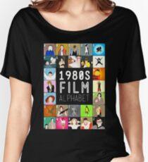 1980's Film Alphabet Women's Relaxed Fit T-Shirt