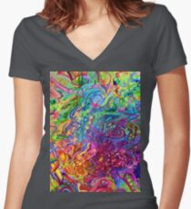 This Page Intentionally Left Blank - Digital Art & Painting Women's Fitted V-Neck T-Shirt