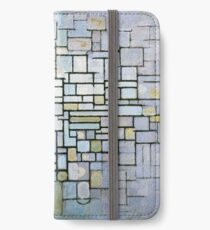 Composition in Blue Gray and Pink Piet Mondrian, 1913 iPhone Wallet