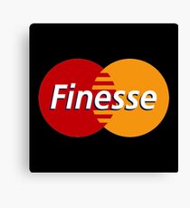 Finesse MasterCard | Black Shirt Canvas Print