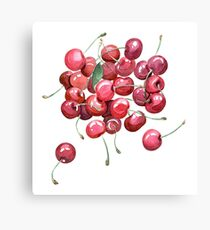 watercolor cherries Canvas Print