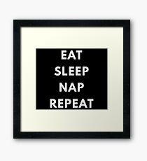 Nap,sleep,procrastinate Framed Print