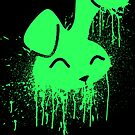 Green Paint Bunny  by Nightfrost4