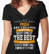 TECHNICAL DIRECTOR Women's Fitted V-Neck T-Shirt
