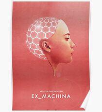 Ex Machina inspired Wall Art Poster   Minimalist Worn Deus Ex Alex Garland Poster