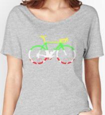 Bike Tour de France Jerseys (Horizontal) (Big)  Women's Relaxed Fit T-Shirt