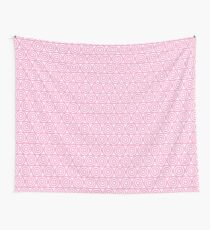 Circle Pattern - Repeating Pink Wall Tapestry