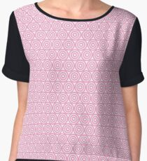 Circle Pattern - Repeating Pink Chiffon Top