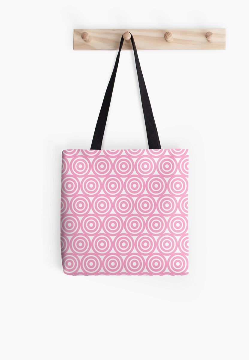 Circle Pattern - Repeating Pink by HandDrawnTees