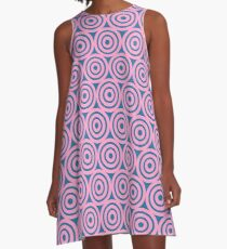 Circle Pattern - Repeating Pink A-Line Dress
