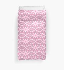 Circle Pattern - Repeating Pink Duvet Cover