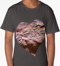 Heart Shape Stone Art Long T-Shirt
