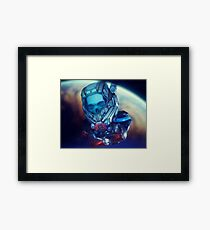 Sci-Fi Floating Skull in Space Framed Print