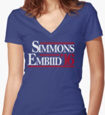 Simmons Embiid '16 Women's Fitted V-Neck T-Shirt