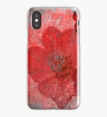 Cool, unique red grey asian style flower art iPhone Case/Skin