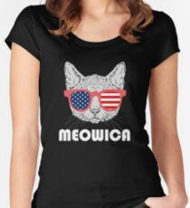 Meowica Cat Women's Fitted Scoop T-Shirt