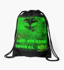 ALIEN INVASION Drawstring Bag