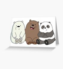We bare bears greeting cards redbubble we bare bears greeting card bookmarktalkfo Images