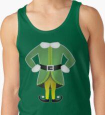 cute cartoon christmas santa's helper elf costume Tank Top