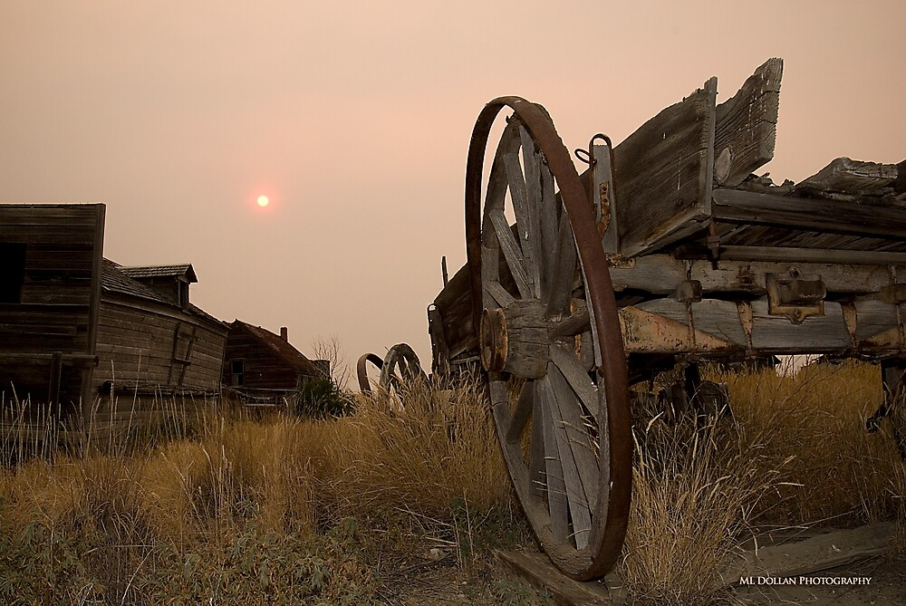 Ghost Town Sunset by nituathaill