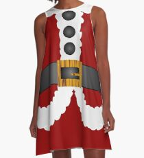 merry christmas cute Santa Claus  A-Line Dress