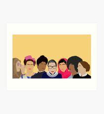 Feminist Girl Gang- Squad Goals (with Gloria) Art Print