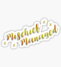 HP - Mischief Managed Sticker
