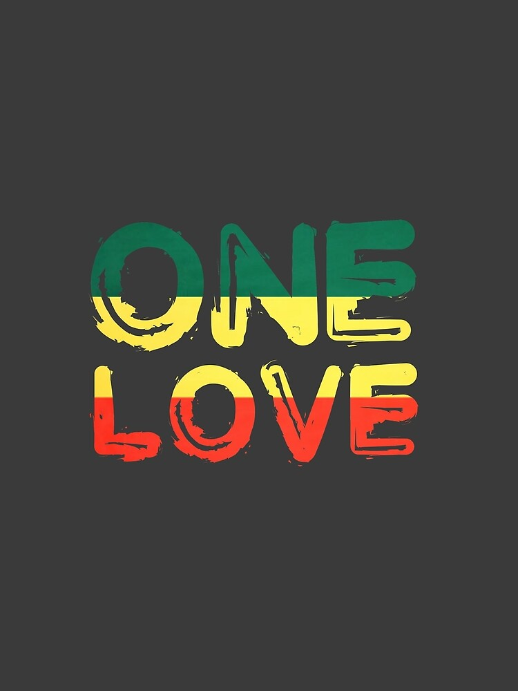 One Love Reggae Peace Weed Rasta Chill Stoner Quote by Sid3walkArt2