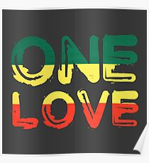one love reggae peace weed rasta chill stoner quote poster