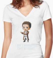 i dont understand Women's Fitted V-Neck T-Shirt
