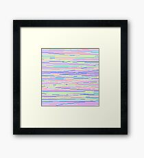 Pixel Stripes Framed Print