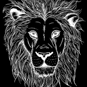 Lion (white print) by EmmaBarker