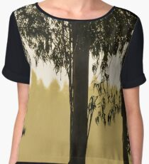 Gold and Black Chiffon Top