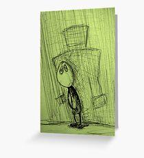 Mr Cellophane Greeting Card