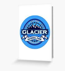Glacier National Park Travel Decal Greeting Card