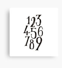 NUMBER 1-9 Canvas Print