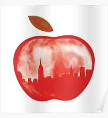 New York big apple bytes Poster