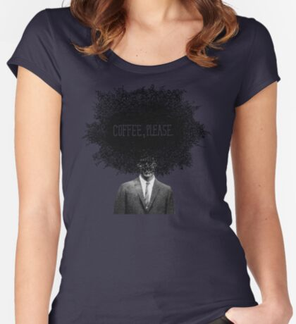 Coffee, Please Women's Fitted Scoop T-Shirt