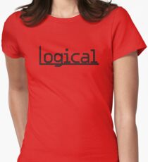 Logical Underlined Womens Fitted T-Shirt